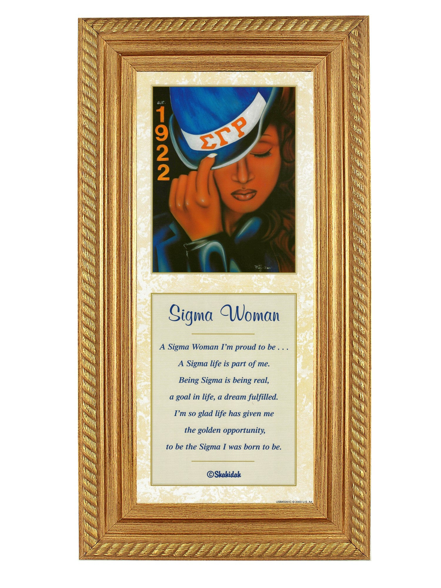 Sigma Woman by Fred Mathews and Shahidah (Gold Rope Frame)