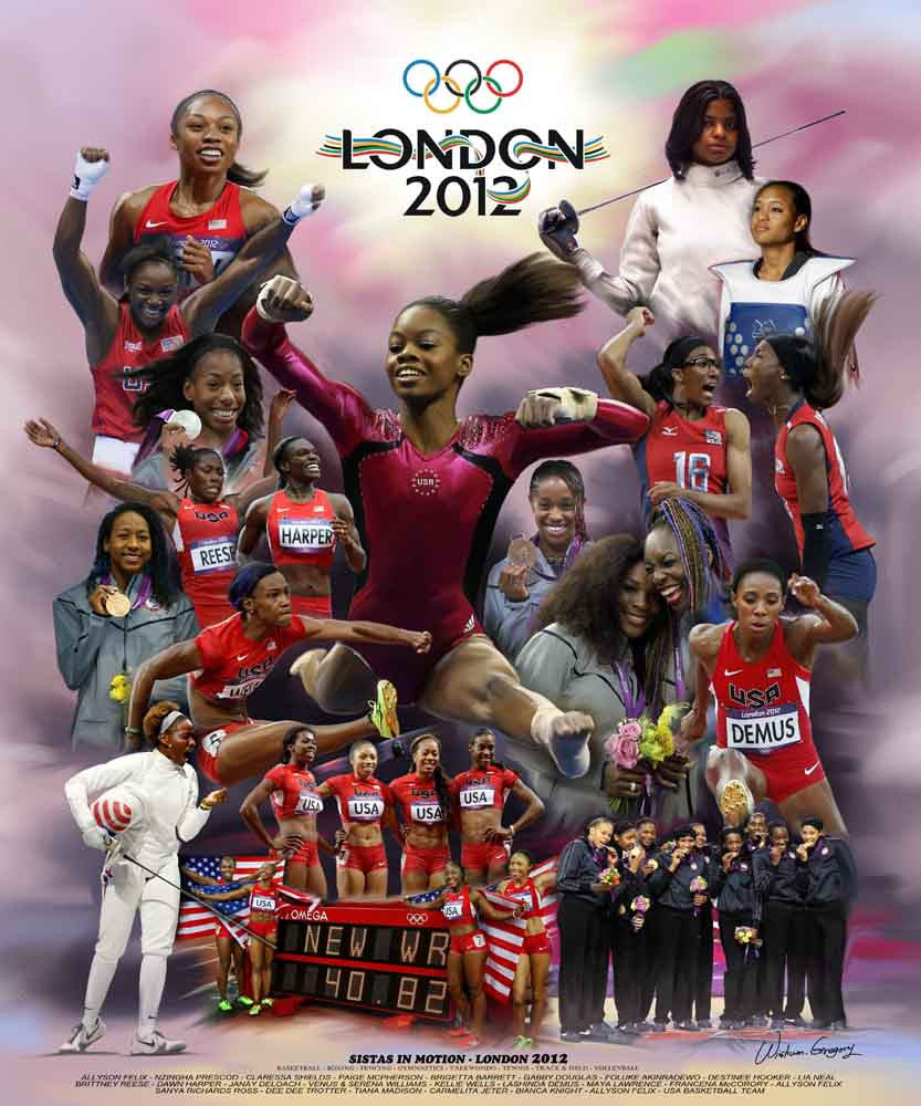 Sistas in Motion (2012 Olympics) by Wishum Gregory
