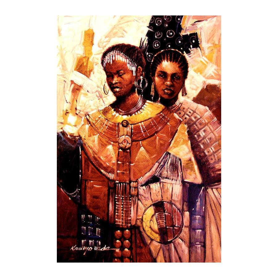 Adorned Ceremonial African Sisters by Kanayo Ede