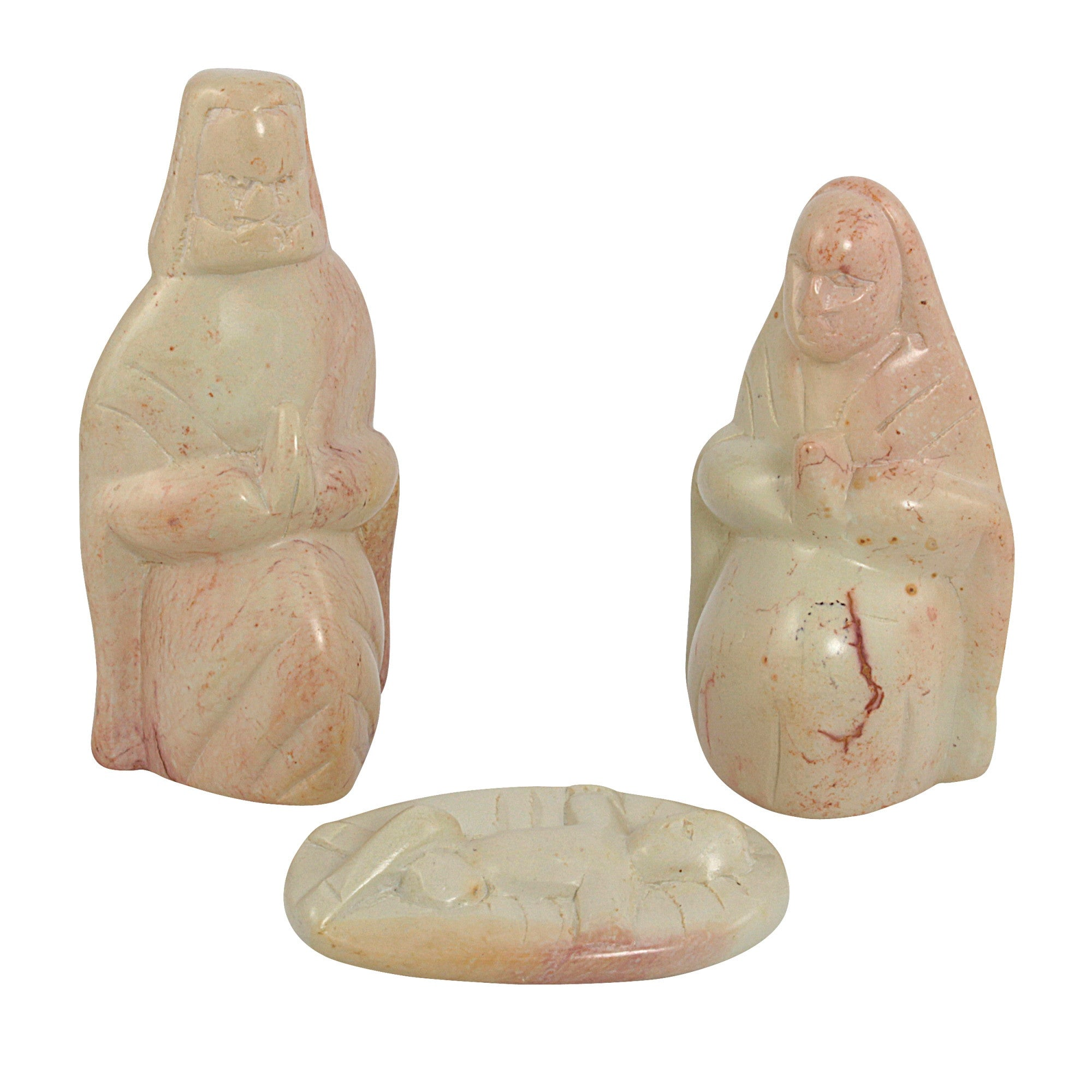 Hand Made Kenyan Three Piece Nativity Soapstone Set