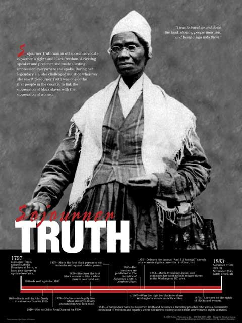 Sojourner Truth Timeline Poster by Techdirections