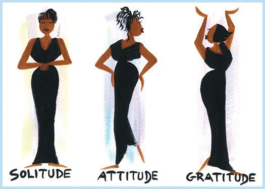 Solitude, Attitude and Gratitude Magnet by Cidne Wallace