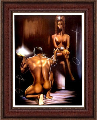 "Soul Mates by Kevin ""WAK"" Williams (Dark Cherry Frame)"
