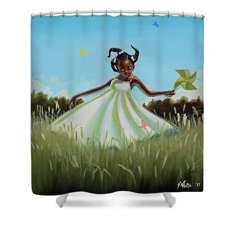 Spin: African American Shower Curtain by Jerome T. White