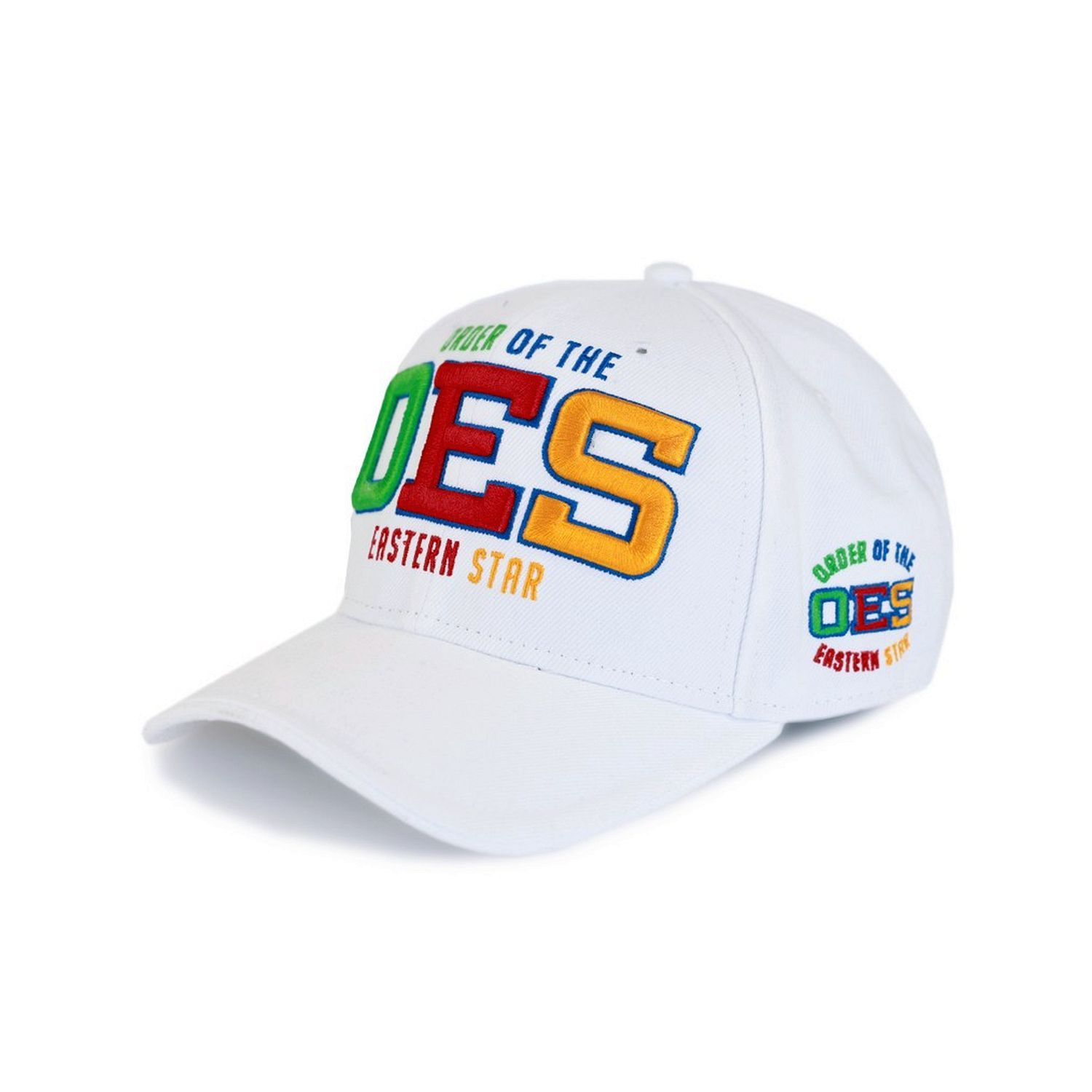 Order of the Eastern Star Adjustable Baseball Cap (White) by Big Boy Headgear