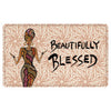 Beautifully Blessed: African American Interior Floor Mat by Cidne Wallace