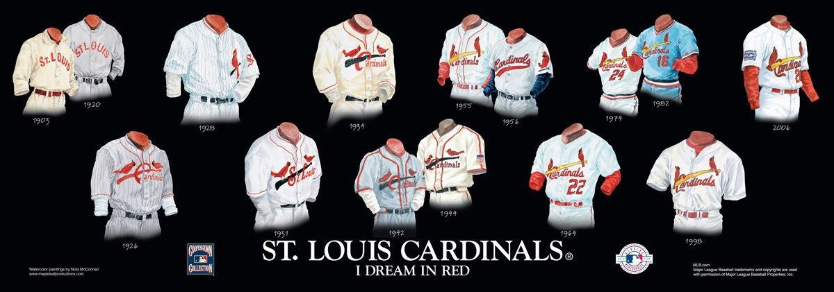 St. Louis Cardinals: I Dream in Red Poster by Nola McConnan