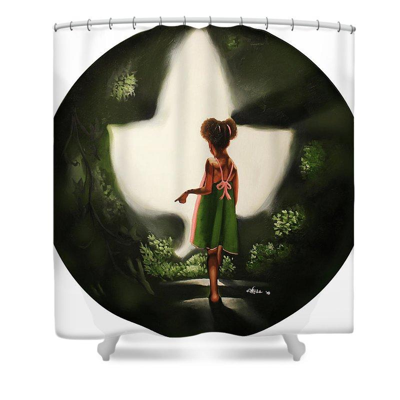 Step into the Ivy Light (Alpha Kappa Alpha): African American Shower Curtain by Jerome T. White