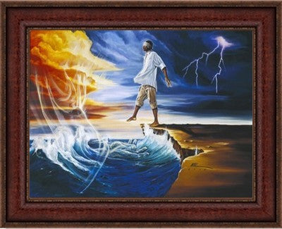 "Step Out on Faith (Male) by Kevin ""WAK"" Williams (Framed)"
