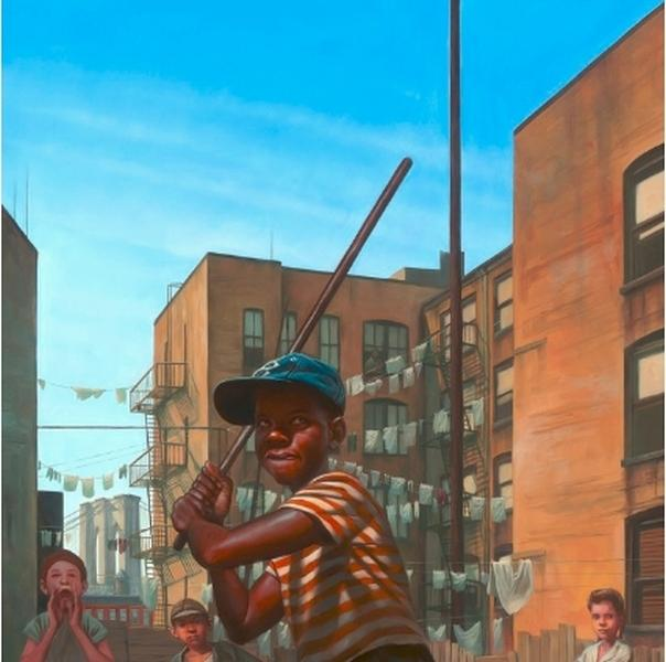 Stickball Alley by Kadir Nelson (New York Magazine)