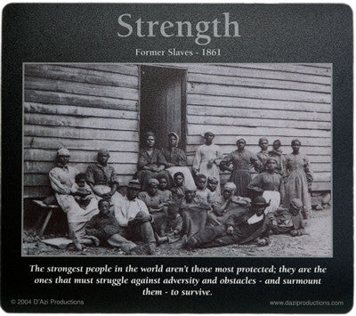 Strength: African American Motivational Mousepad by D'azi Productions