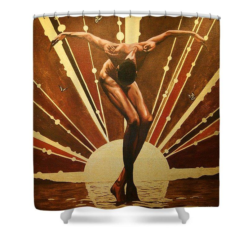 Sunrise (African American Dancer): African American Shower Curtain by Jerome T. White