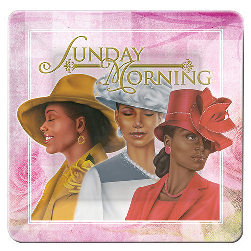 Sunday Morning: African American Glass Decorative Plate