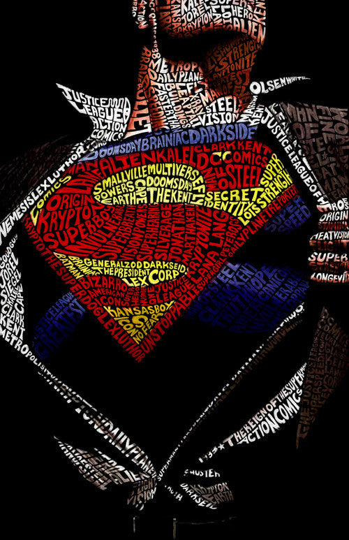 Superman Word Art by Hans Fleurimont