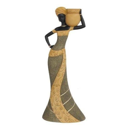 African Woman (Olive): Essence of Africa Taper Candlestick Holder