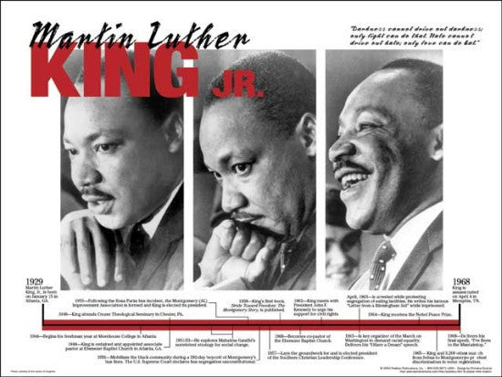 Martin Luther King: Timeline Poster by Techdirections