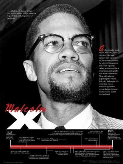 Malcolm X: Timeline Poster by Techdirections