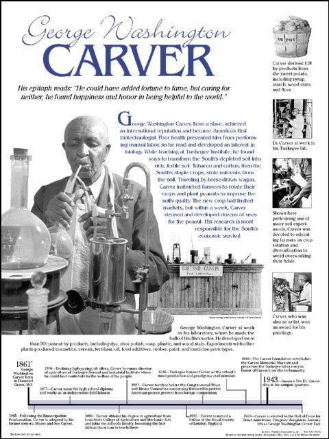 George Washington Carver: Timeline Poster by Techdirections