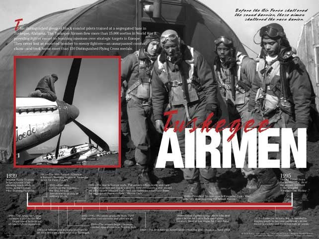 Tuskegee Airmen: Timeline Poster by Techdirections