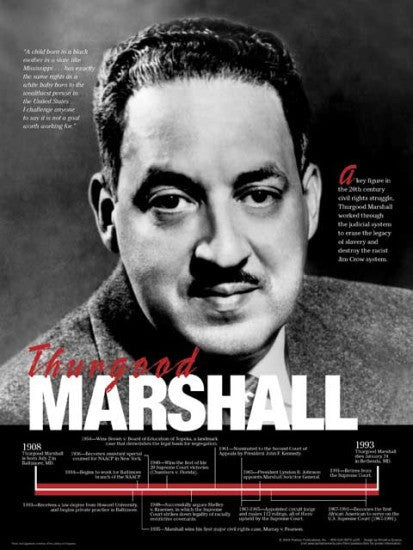 Thurgood Marshall: Timeline Poster by Techdirections