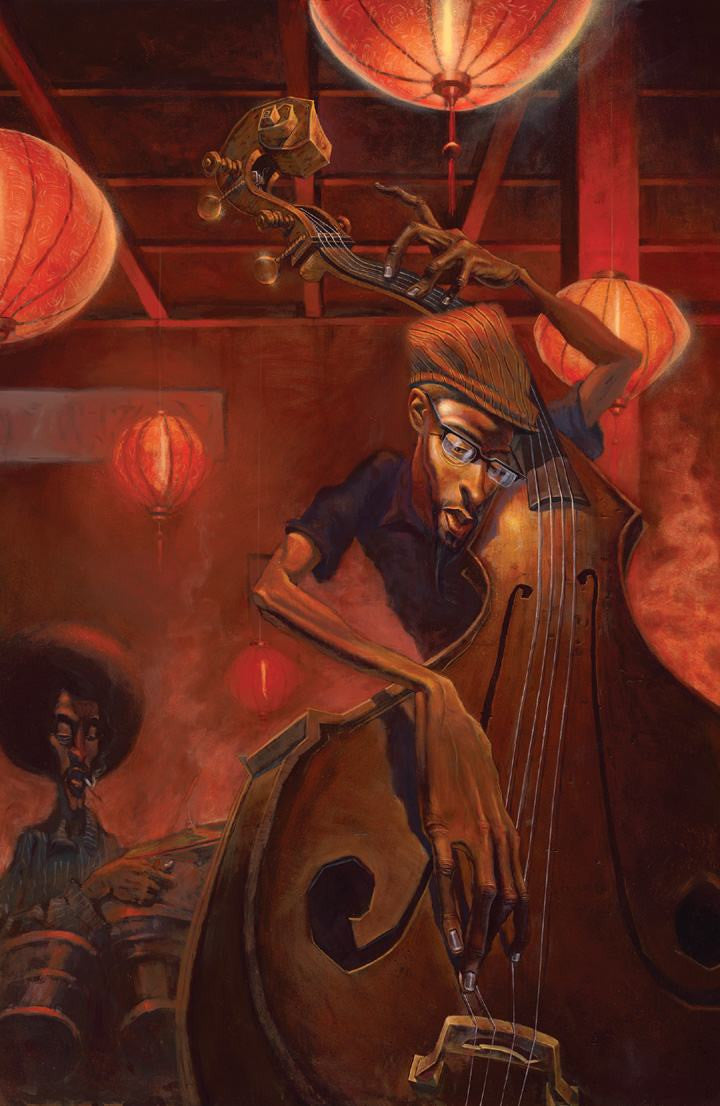 The Bass Player By Justin Bua The Black Art Depot