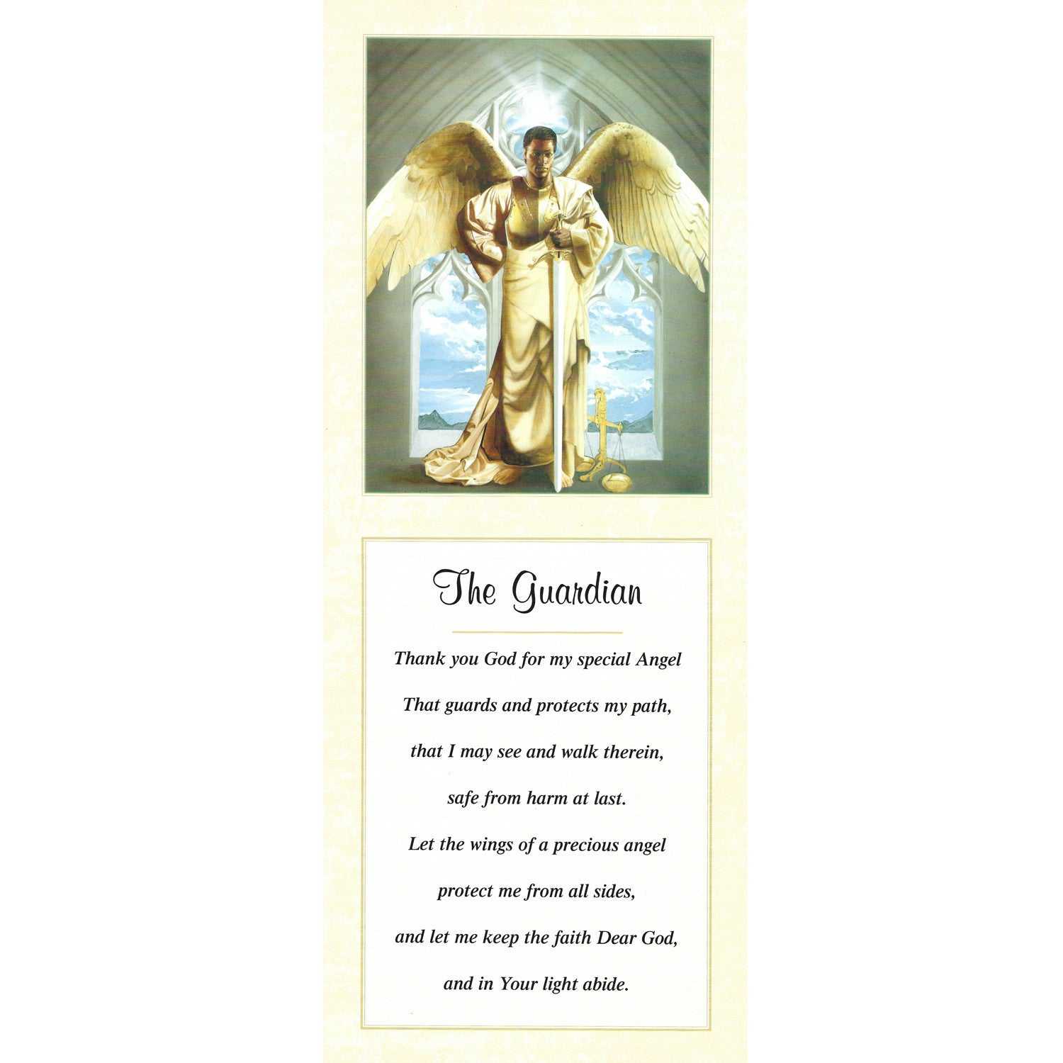 The Guardian by Shahidah and Edward Clay Wright (Literary Art Print)