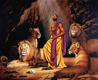 Daniel in the Lion's Den by Aaron and Alan Hicks