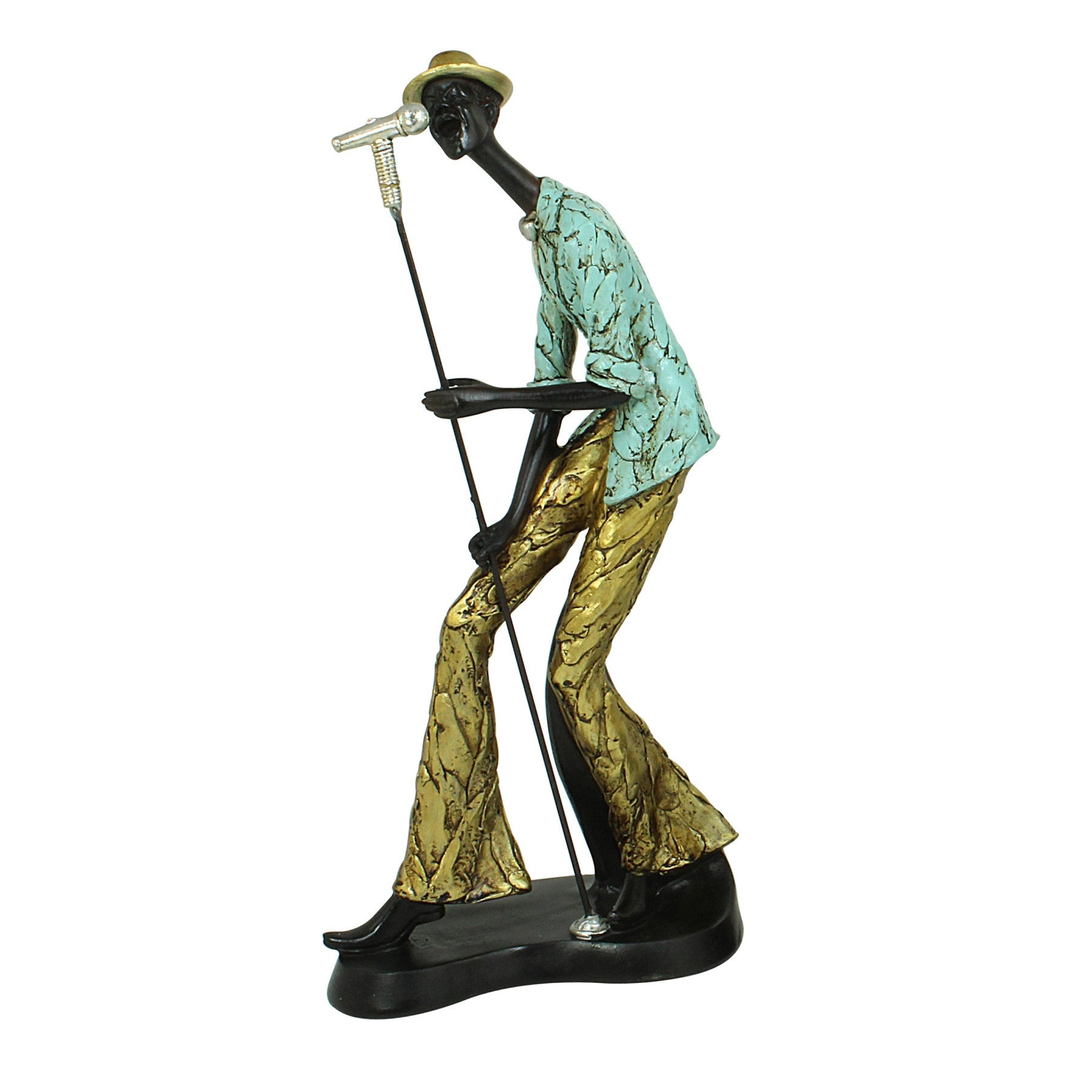 The Vocalist: Jazz Player Figurine Collective