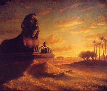 Cleopatra at the Sphinx by Tim Ashkar