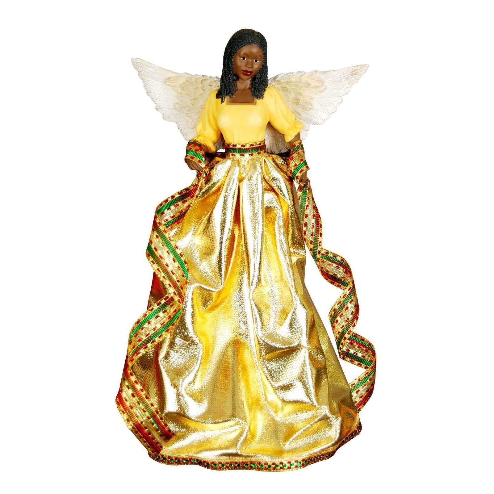 tiffany angel african american christmas tree topper gold