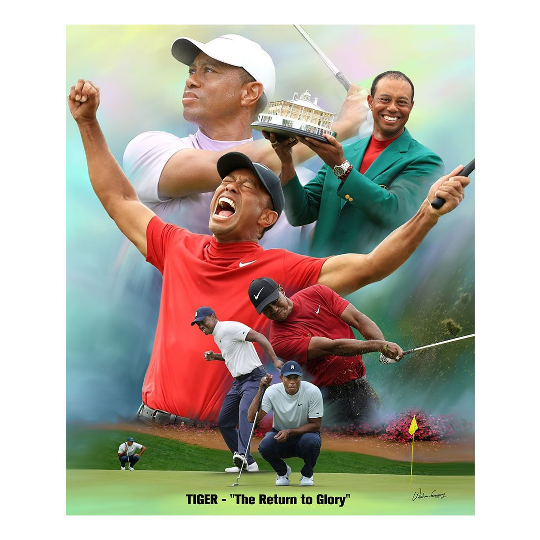 Tiger Woods: A Return to Glory by Wishum Gregory