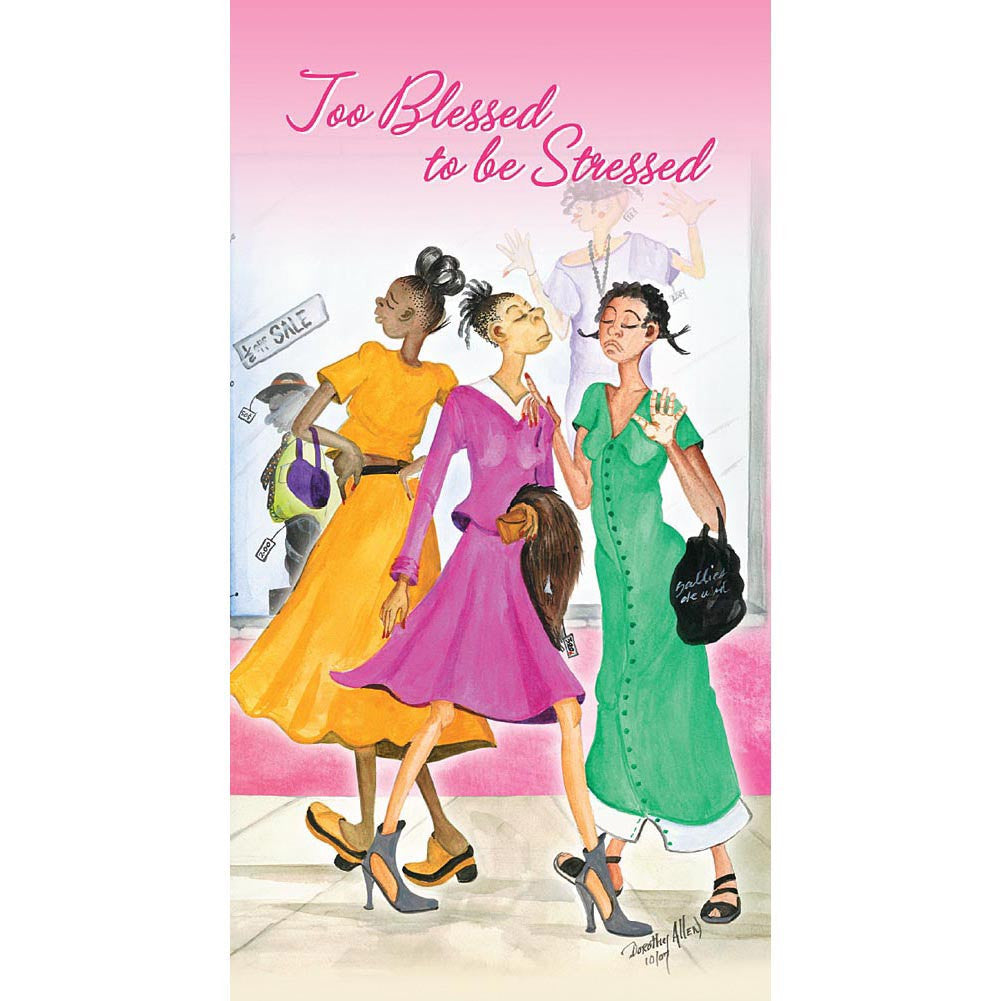 Too Blessed to be Stressed: 2016 African American Checkbook Planner (Front)