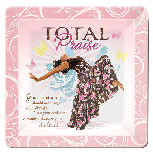 Total Praise: African American Glass Decorative Plate