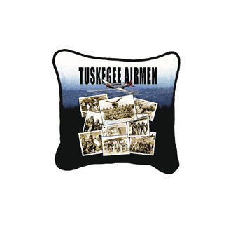 Tuskegee Airmen Tapestry Throw Pillow