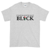 Unapologetically Black: Unisex Short Sleeved African American T-Shirt (Ash)