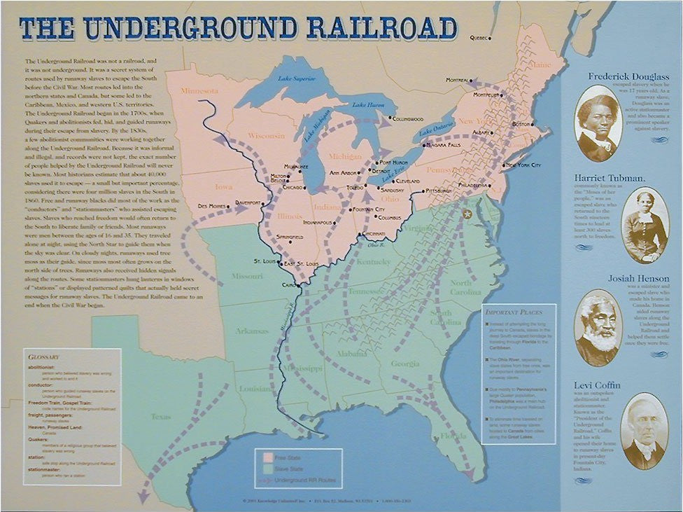Underground Railroad Poster by Knowledge Unlimited