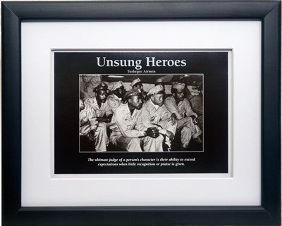 Unsung Heroes: Tuskegee Airmen by D'azi Productions (Framed)