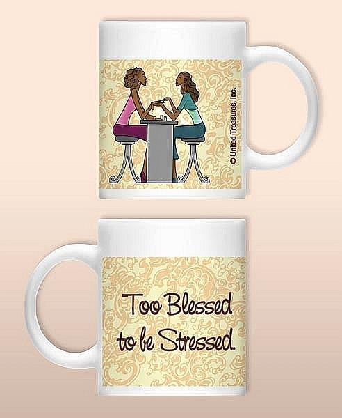 Too Blessed To Be Stressed Mug by United Treasures