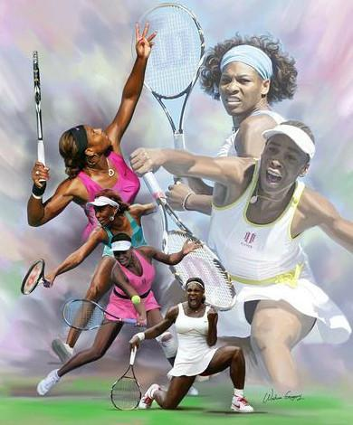 Venus and Serena Williams by Wishum Gregory