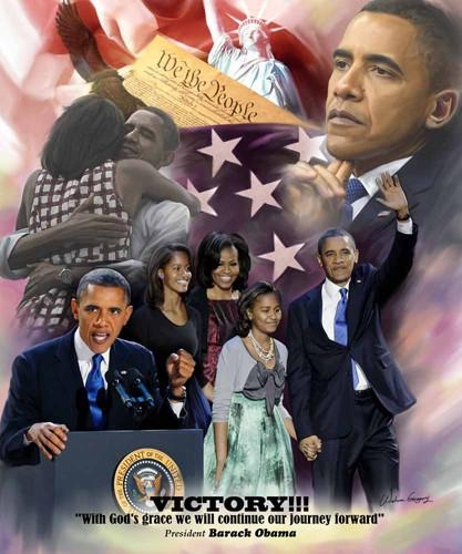 Victory: Barack Obama (2012 Election) by Wishum Gregory