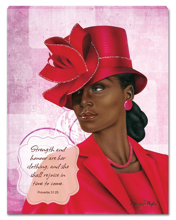 Virtuous Woman Canvas Wall Hanging by Ronny Myles