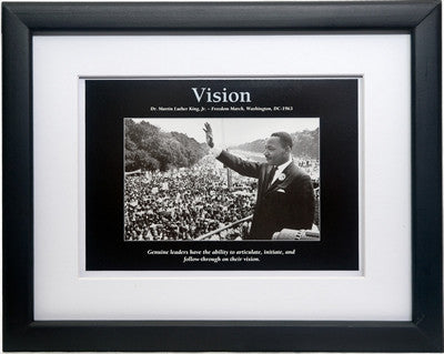 Vision: Martin Luther King, Jr. by D'azi Productions (Framed)