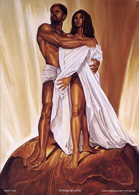 Painting Black Man And Woman Art