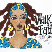 "Walk by Faith Magnet by Sylvia ""GBaby"" Cohen"