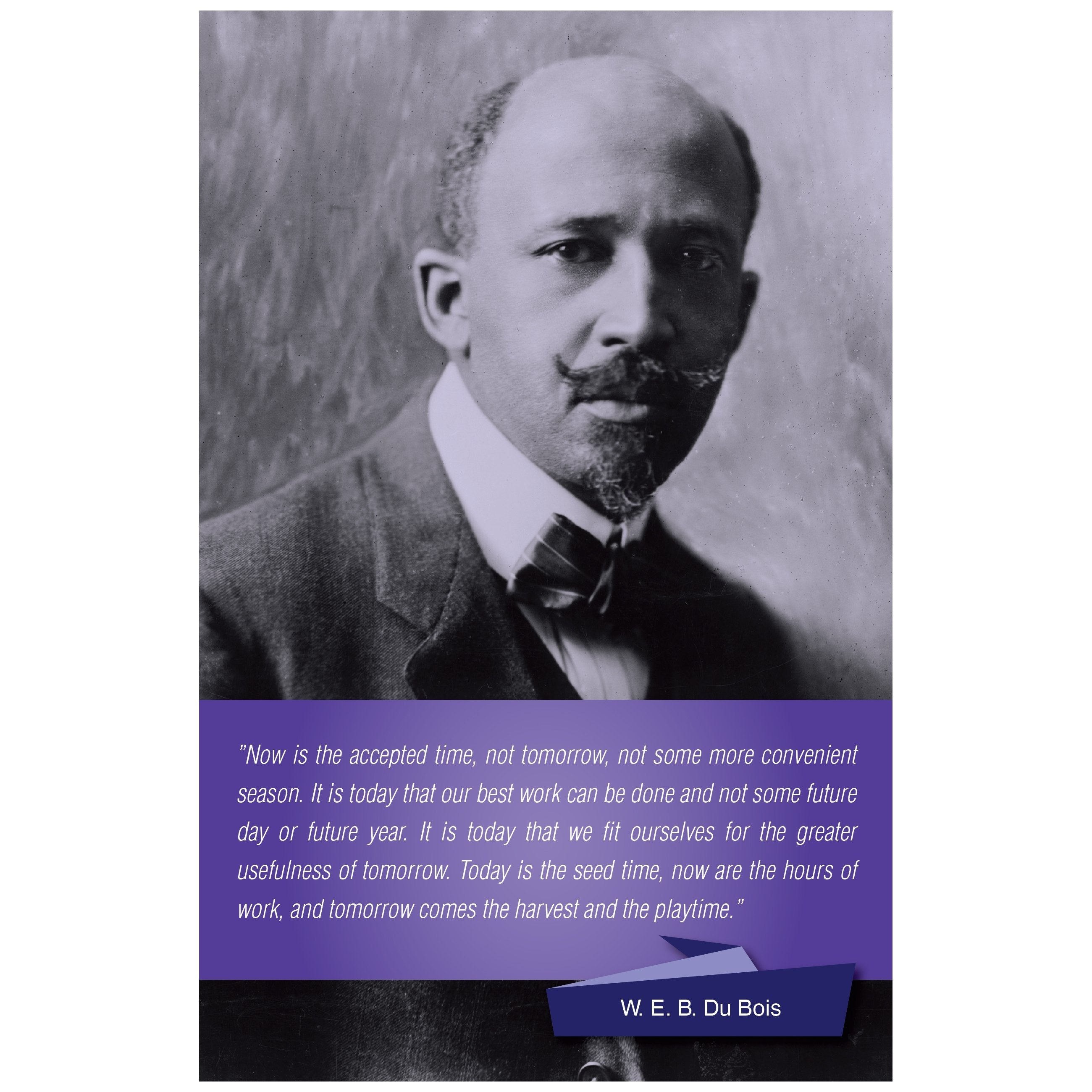 W.E.B. DuBois: The Time is Now Poster by Sankofa Designs