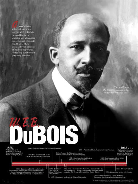 a biography and life work of william edward burghardt du bois an american sociologist W e b du bois: online resources bibliography (virtual services and  web sites  focusing on du bois and a bibliography containing selected works  african  american perspectives: pamphlets from the daniel a p murray collection, 1818- 1907  progress of a people includes a biography of w                        e b du  bois.