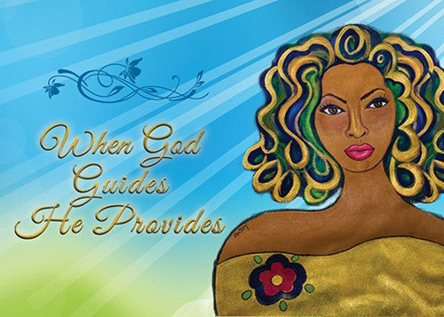 "When God Guides He Provides Magnet by Sylvia ""GBaby"" Cohen"