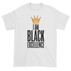 I Am Black Excellence Men's Short Sleeved T-Shirt (White)