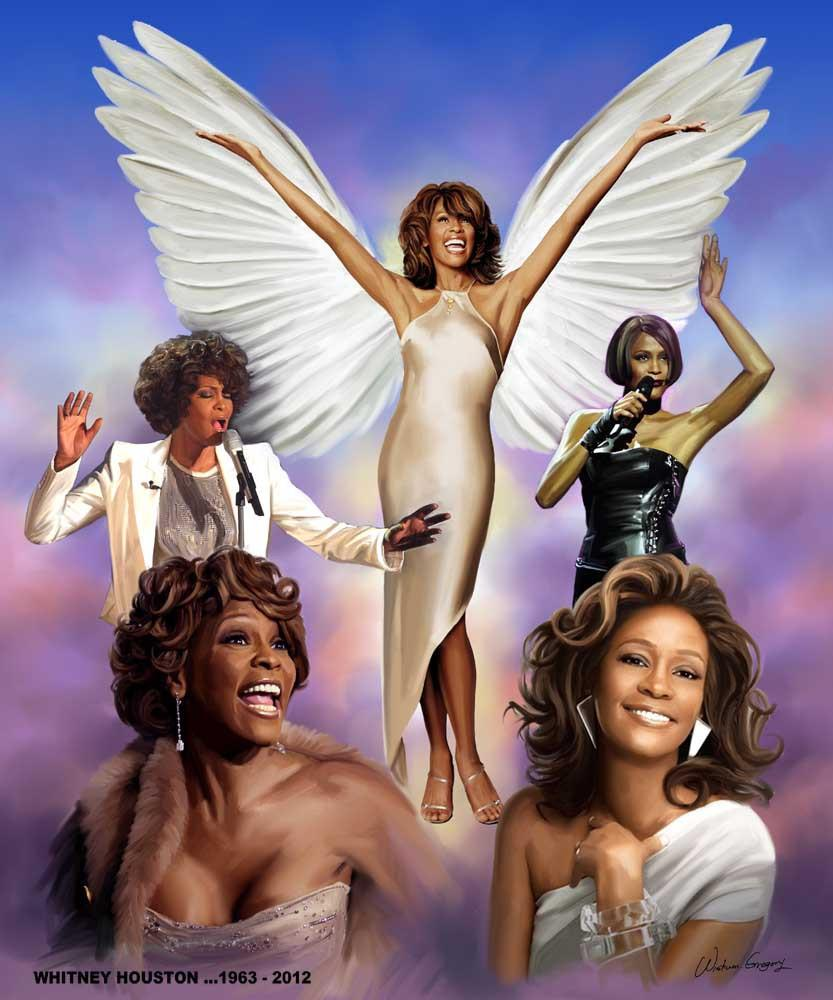 Whitney Houston by Wishum Gregory