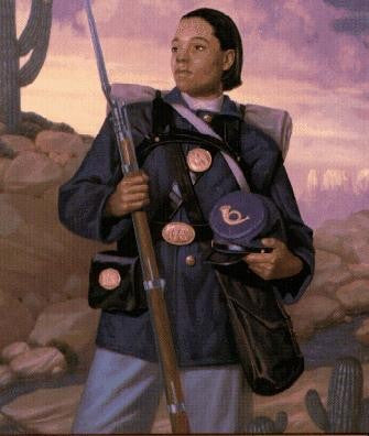 Female Buffalo Soldier by William Jennings